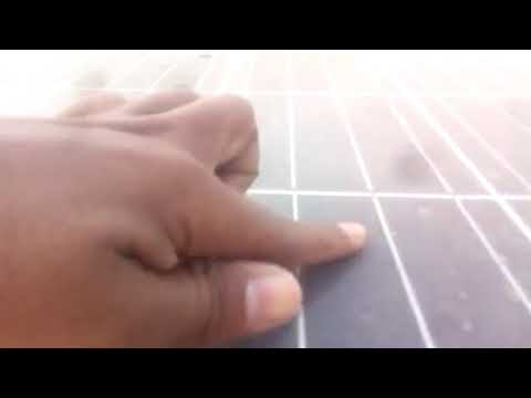 How to clean solar PV panel