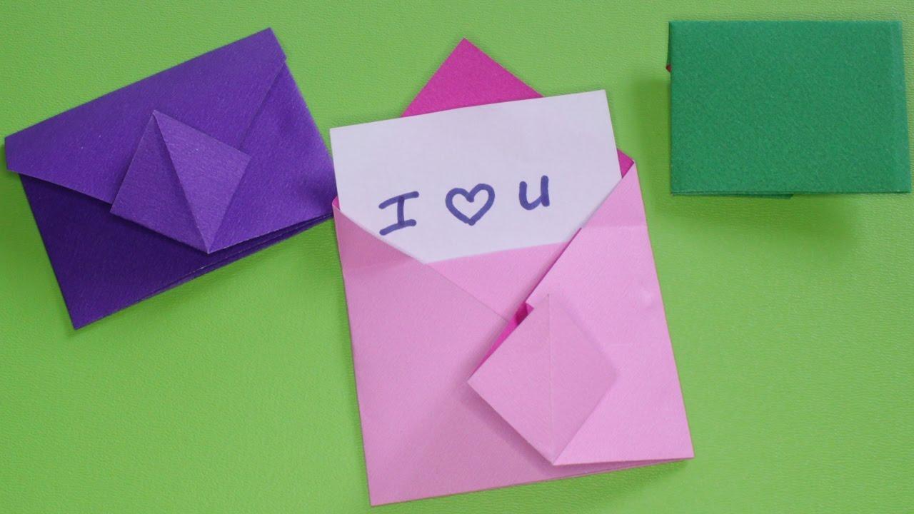 Gấp giấy Origami - Hướng dẫn gấp phong thư đơn giản - Kênh Giải Trí