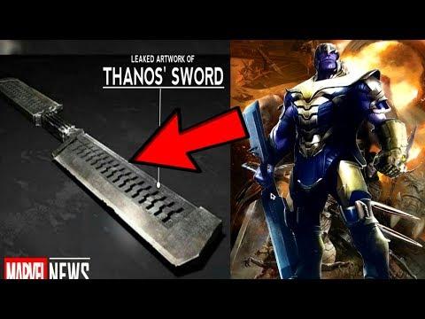 Avengers 4 LEAKED Thanos NEW Infinity Sword REVEALED!