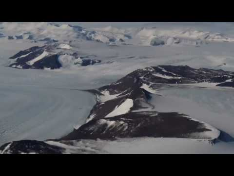 Flying over the Transantarctic mountains, twin otter, Antarctica