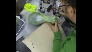 Atelier Meijer -  Iguanaskin pin airbrush