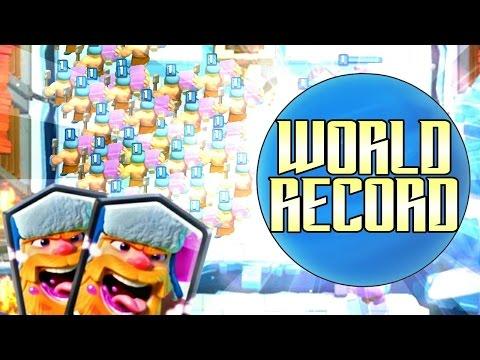Clash Royale / Record du monde de Bucheron Légendaire ! Record  FR