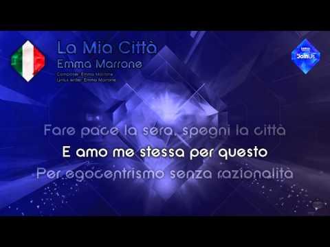 """Emma Marrone - """"La Mia Città"""" (Italy) - [Karaoke version]"""