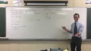 Projectile Motion: Aiming for a Target (1 of 2: Generating Time Equations)