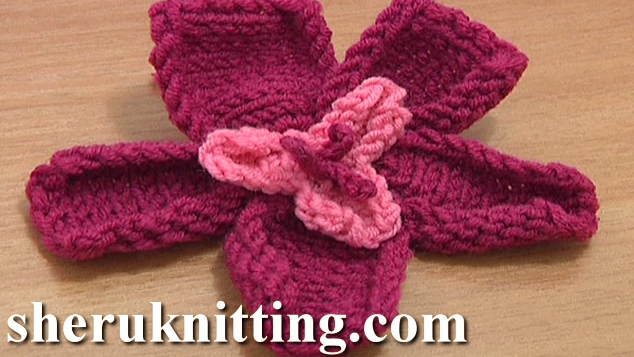 Free knitting flower patterns tutorial 18 knitted two layer flower free knitting flower patterns tutorial 18 knitted two layer flower youtube bankloansurffo Images