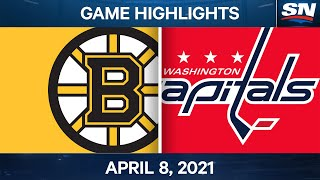 NHL Game Highlights | Bruins vs. Capitals - Apr. 8, 2021