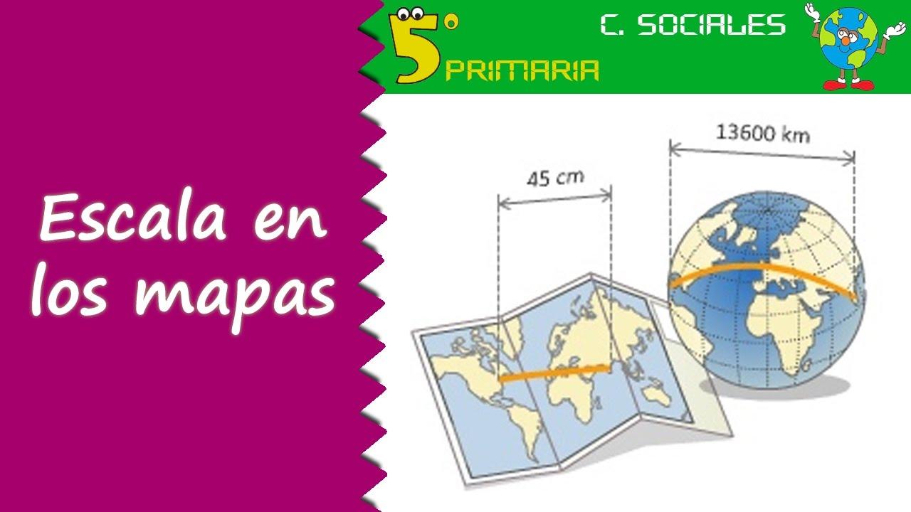 La Escala Del Mapa.Escala En Los Mapas Sociales 5º Primaria Tema 2 Youtube