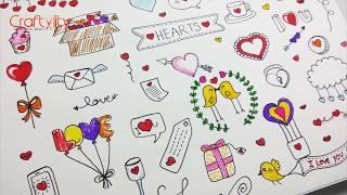 Doodle heart drawing | Valentine Doodle | Love Doodle | color doodle