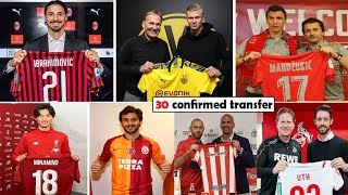 30 CONFIRMED TRANSFERS JANUARY 2020
