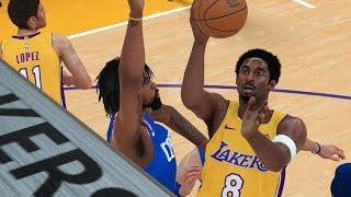 "NBA 2K18 Mycareer-""Black Mamba Come back!"" KoBe Bryant vs Clippers (PART1)-New Beginning!"