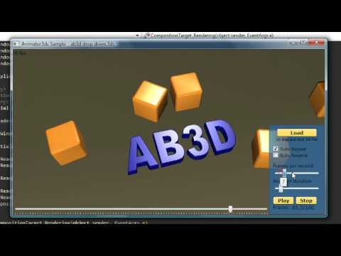 WPF 3D animation sample using Ab3d.Reader3ds