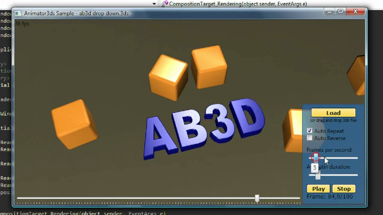 WPF 3D animation sample using Ab3d.Reader3ds - YouTube