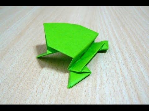 fabriquer une grenouille en origami doovi. Black Bedroom Furniture Sets. Home Design Ideas