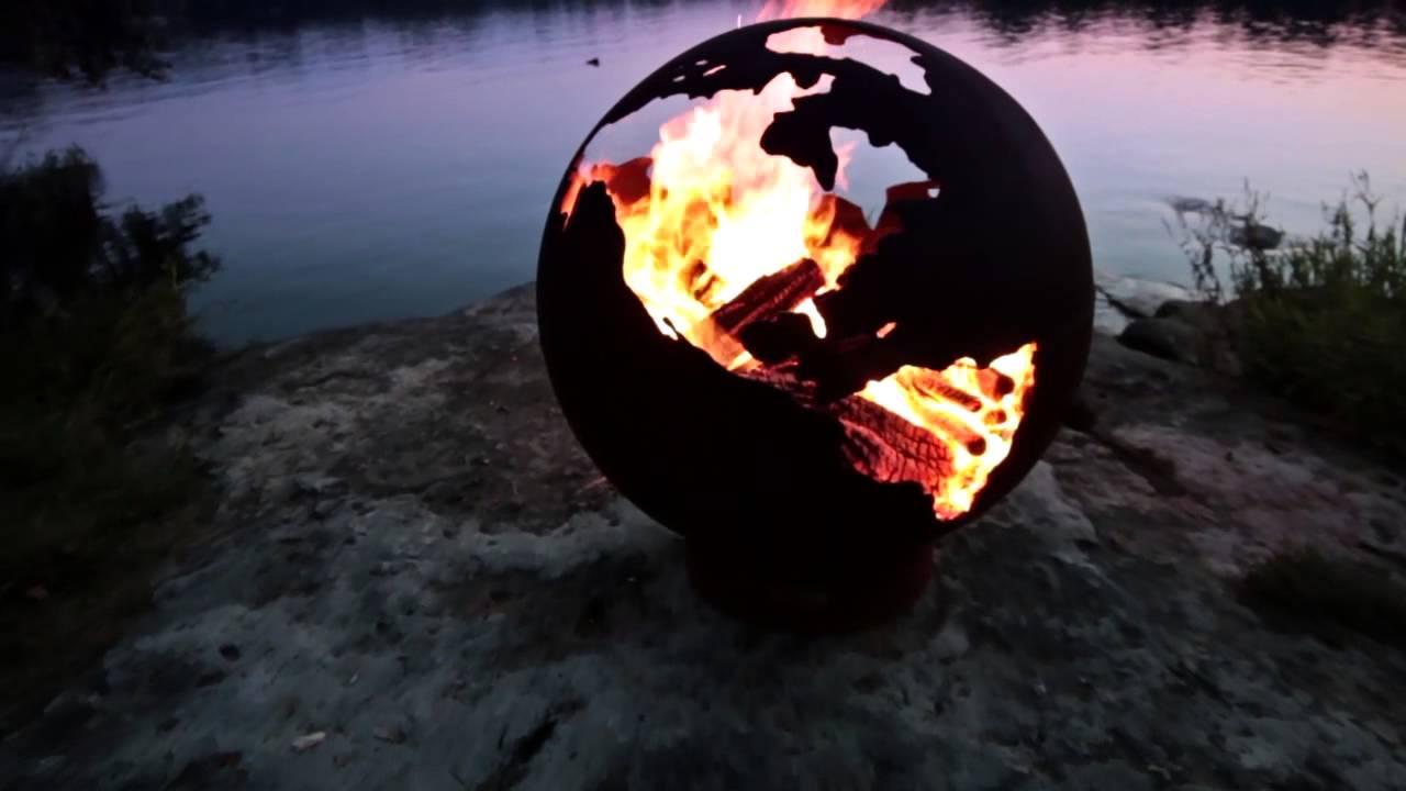 Fire Pit Art® - Third Rock Fire Pit - Fire Pit Art® - Third Rock Fire Pit - YouTube