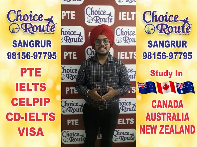 Congratulations Thakurajit Singh - Choice Route is the Best PTE and IELTS institute in Sangrur