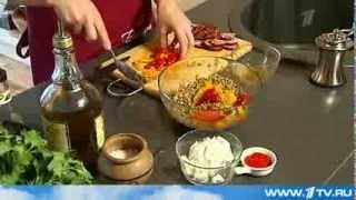 Теплый салат из чечевицы от Ольги Баклановой (Вся Соль)