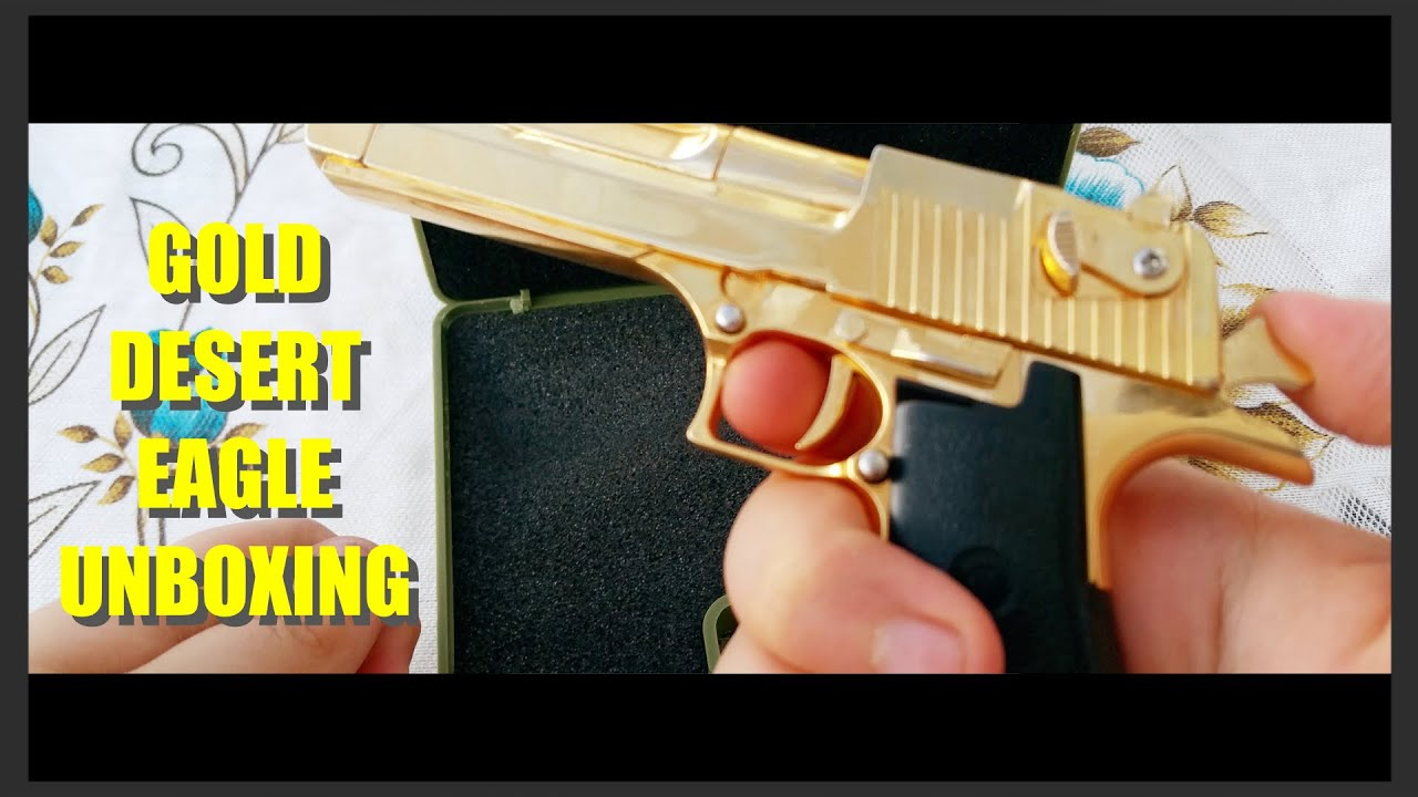 12 Gold Desert Eagle Unboxing From CRW Airsoft 1080p