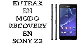 Entrar a modo recovery en Sony Xperia Z2