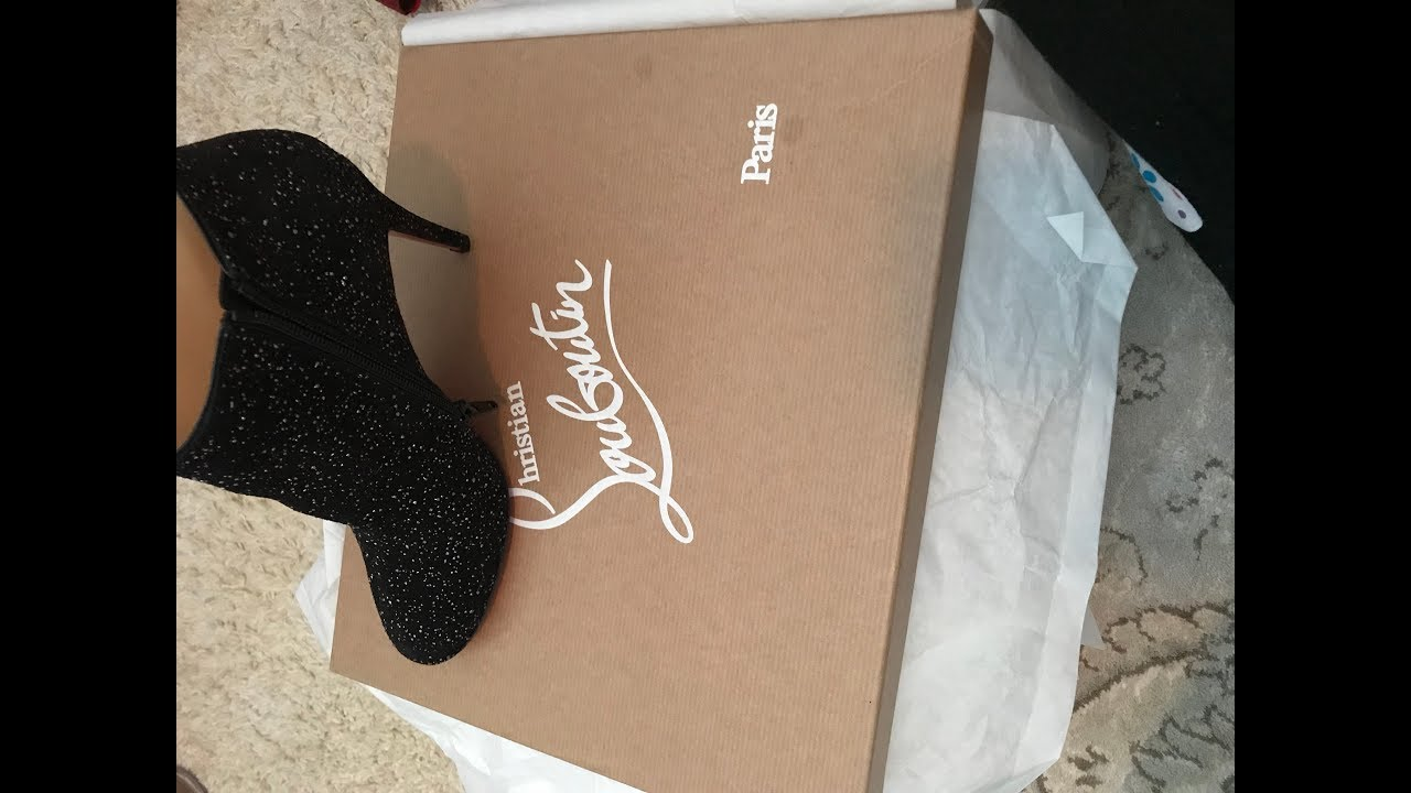 super popular 854e8 a89b7 Christian Louboutin unboxing | Belle Bootie | New 85 mm heel | embellished