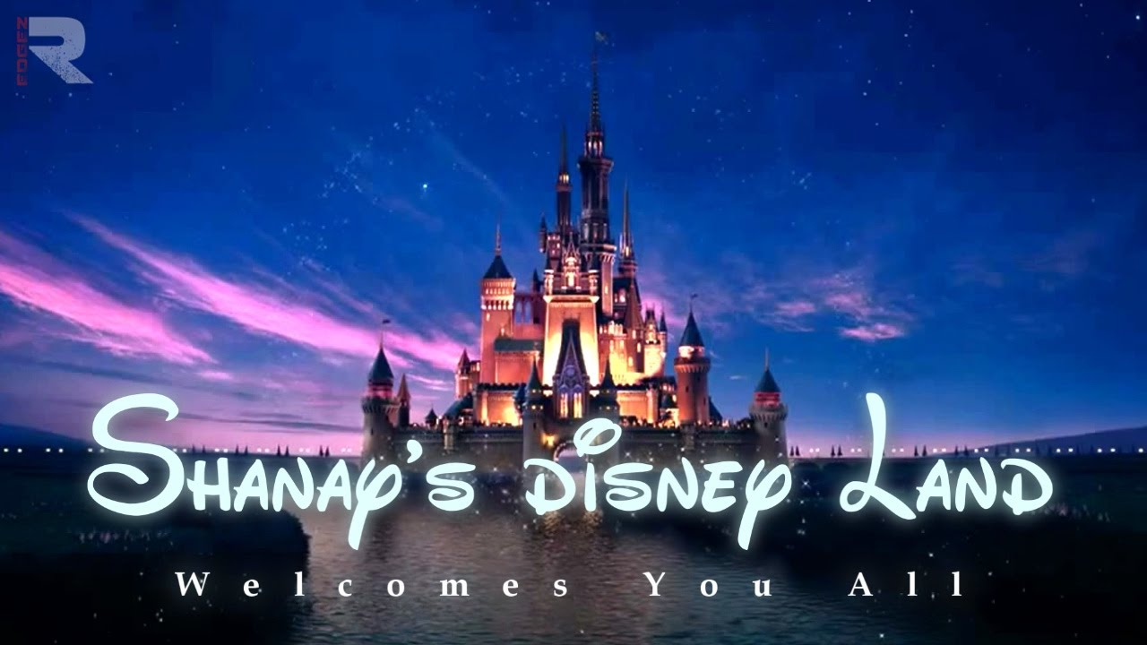 Birthday Invitation Video Theme Disney Land