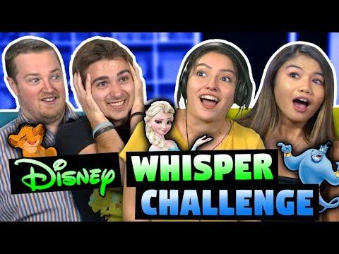 DISNEY WHISPER CHALLENGE! (ft. FBE React Cast)