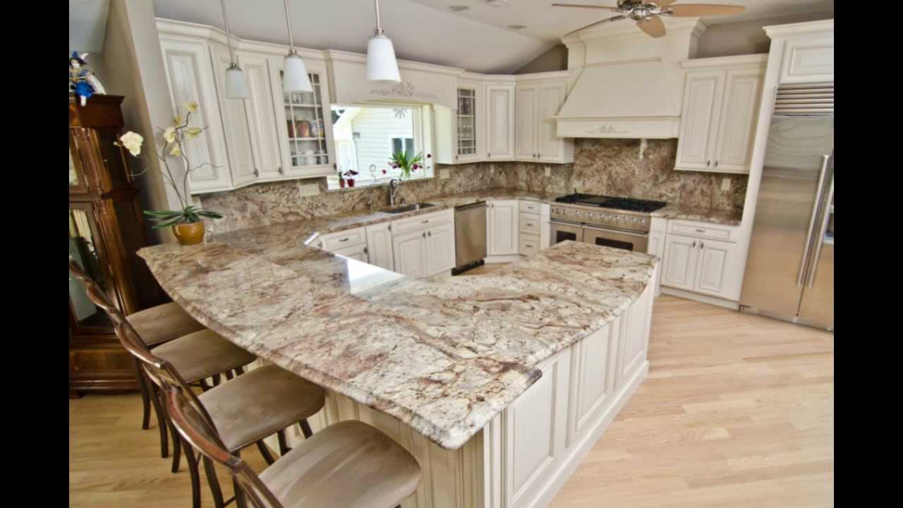 Typhoon Bordeaux Granite With Full Granite Backsplash   YouTube