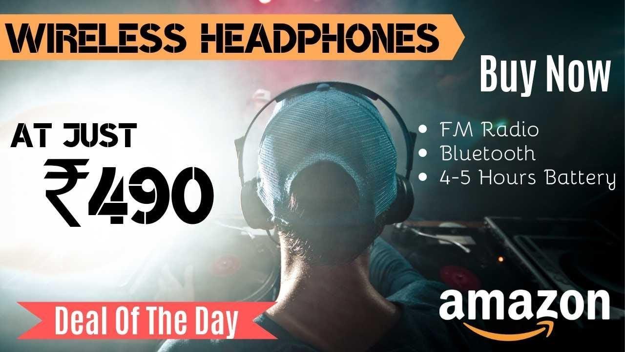 Gadget Deal 1 Wireless Bluetooth Portable Headphones Under 500 On Amazon India Youtube