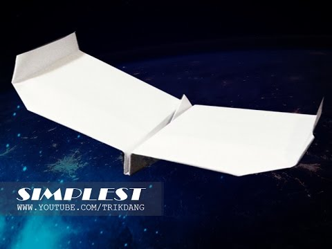 Papercraft Paper Airplane Instructions: How to make an EASY paper plane that FLIES FAR | Simplest