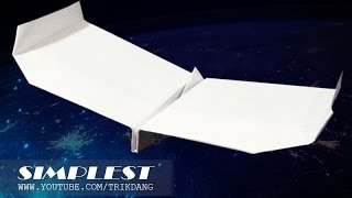 EASY PAPER AIRPLANE for KIDS - How to make a paper airplane that Flies FAST & FAR | Simplest