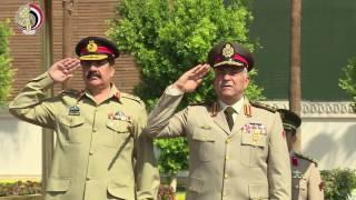 بالفيديو| صدقي صبحي يلتقي رئيس أركان القوات البرية الباكستانية