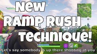 NEW ramp rush technique for FORTNITE