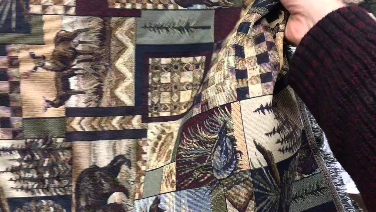Peters Cabin Stone Upholstery Fabric Mountain Lodge Rustic Moose