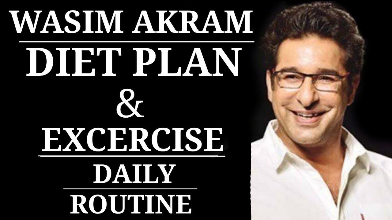 Wasim Akram Diet Plan and Excercise.   Wasim Akram as a diabetic patient.   Waseem Akram. Urdu hindi