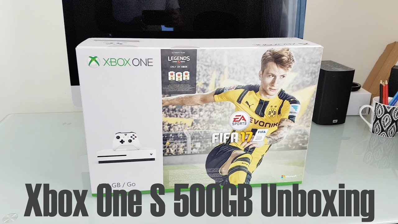xbox one s 500gb fifa 17 bundle unboxing youtube. Black Bedroom Furniture Sets. Home Design Ideas