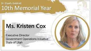 Kristen Cox – Executive Director of the Government Operations Initiative State of Utah