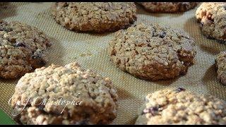 Raisin, Pecan and Walnut Oatmeal Cookies