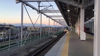 名鉄通過シーン  〜布袋駅〜(電笛2回あり)
