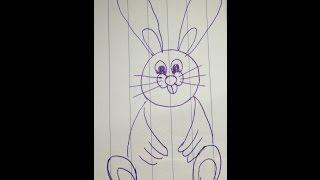 Cách vẽ con thỏ đơn giản cho bé học vẽ - How to draw rabbit easy
