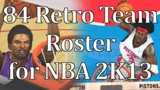 Mod Review - 84 Retro Team Roster