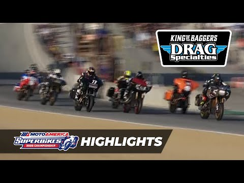 MotoAmerica Drag Specialties King of the Baggers Race Highlights at Laguna Seca 2020