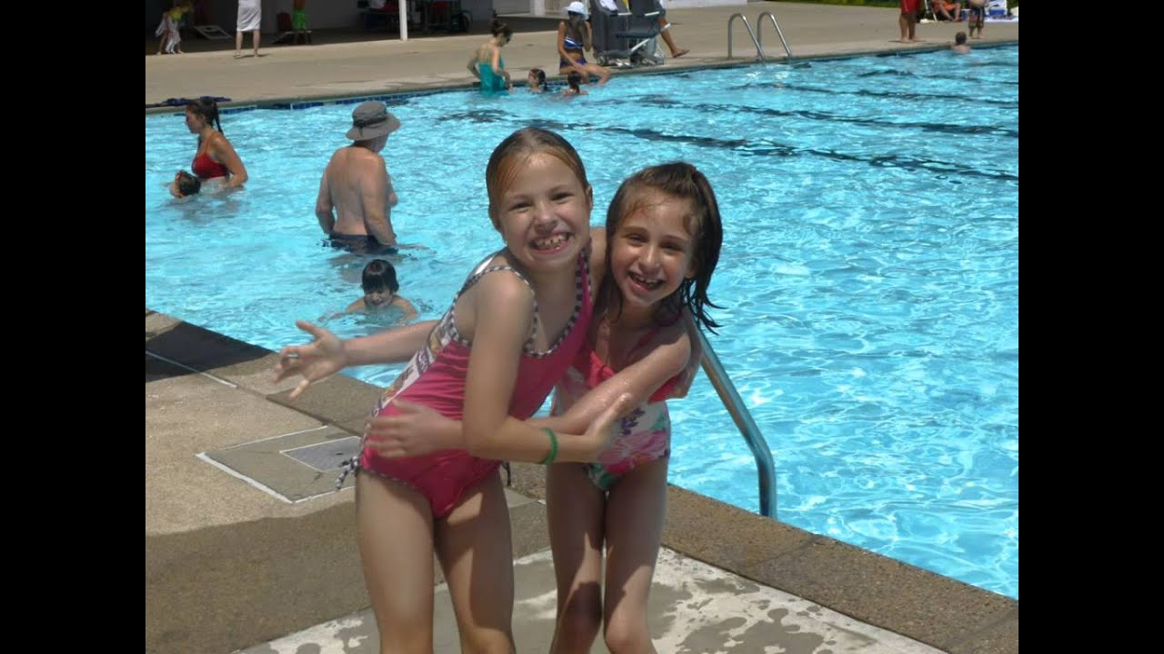 Esther miriam marcia and sam swimming at streeter pool in for Pool show new jersey
