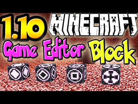 "MINECRAFT 1.10 UPDATE NEWS: World Editor Block! ""Structure Block"""