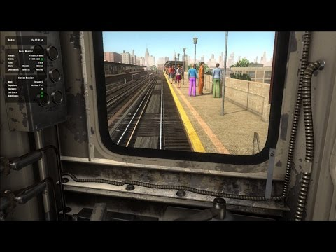 World of Subways 4 HD: New York City Subway 7 Train Redbird Round Trip Cab Ride Early Evening Shift