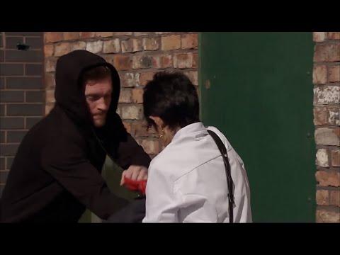Yasmeen Gets Mugged As Tracy Watches - Coronation Street
