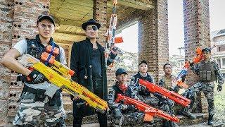 LTT Nerf War Police Guard SEAL X Warriors Nerf Guns Fight Dr Lee Group In Forbidden Forest