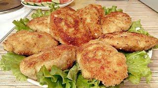 Вкуснейшие РУБЛЕННЫЕ КОТЛЕТЫ из куриной грудки (Сочные и Нежные!)