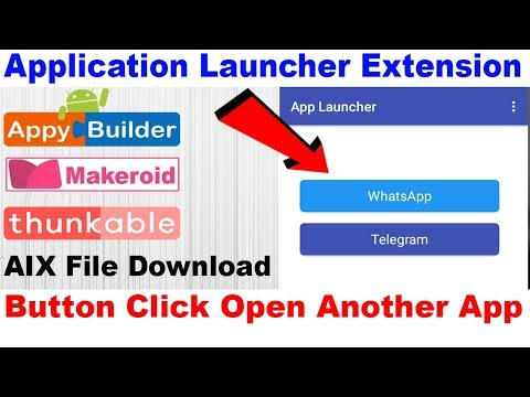App Launcher Extension Button Click Open Another App Thunkable