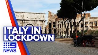 Italy becomes worst affected nation outside China | Nine News Australia