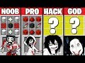 Minecraft Battle: NOOB vs PRO vs HACKER vs GOD - JEFF THE KILLER CRAFTING Challenge. Animation.