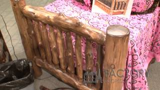 Fireside Lodge Dark Cedar Bed - Factoryestores.com
